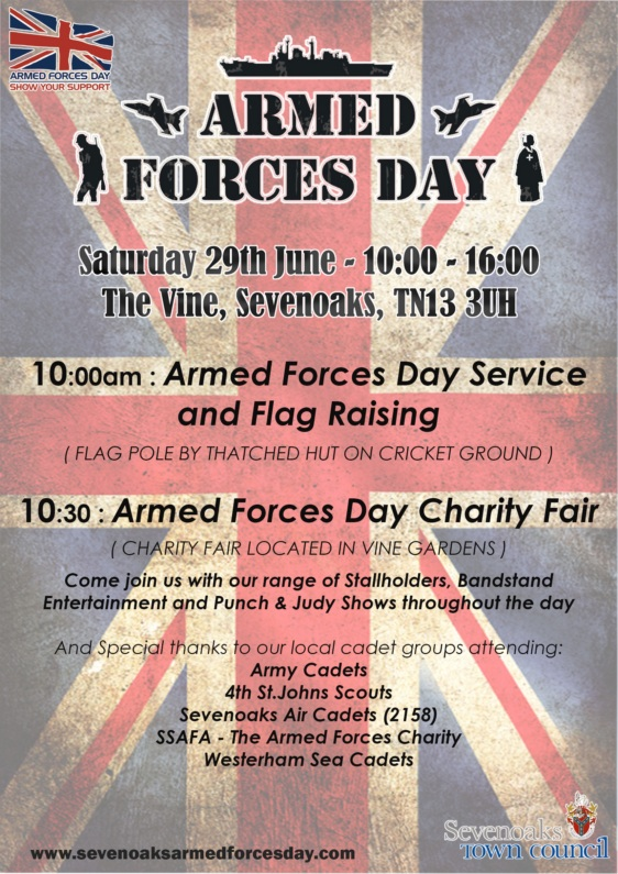 Poster promoting Arms forces day