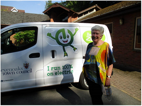 Councillor Canet stood alongside the newly obtained van