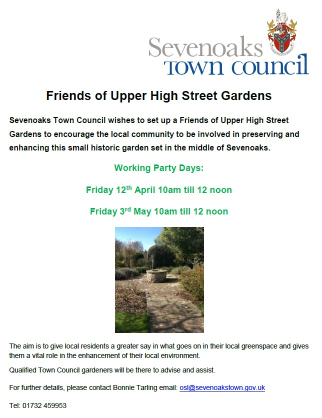 Friends of Upper High Street gardens working party information